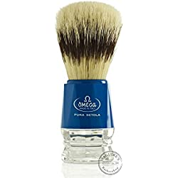 Omega Pura Setola Shaving Brush 103 Mm Height 10218 Model (assorted) With Free Ayur Sunscreen 50 ml