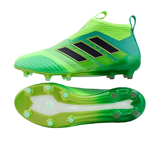 Ace 17+ Pure Control FG Football Boots - Solar Green/Core Black/Core Green - Size 9.5