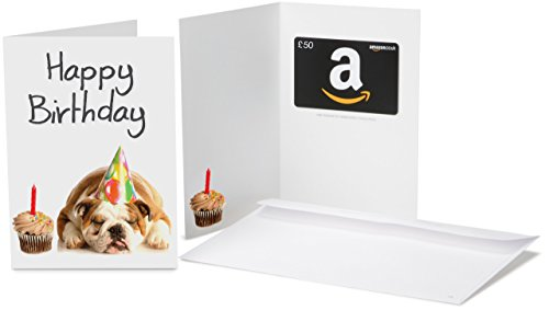 Amazoncouk Gift Card In A Greeting 50 Birthday Dog