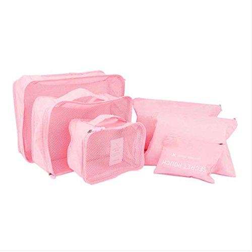 EQLEF® 6pcs bagagli di corsa dell'organizzatore dei sacchetti Cosmetic set