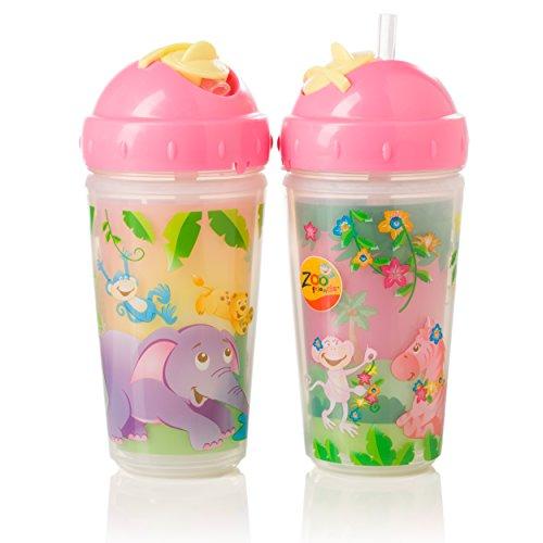 evenflo-biberon-zoo-amis-isole-paille-cups-rose-10-ml