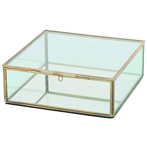 Artelore Home 0118006 Kimberley - Caja de cristal, color beige