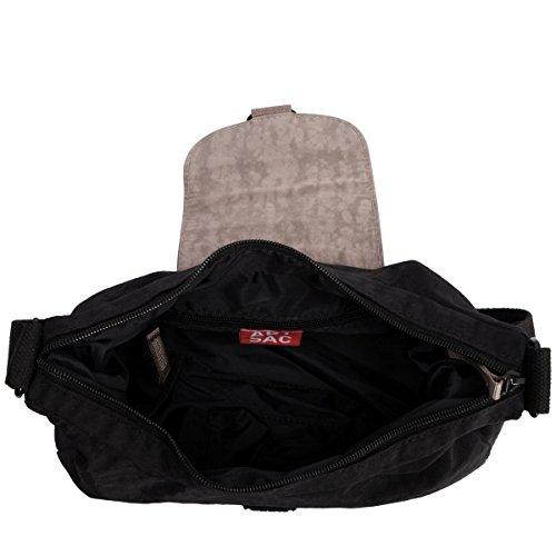 ARTSAC con zip Chiusura Borsa A Tracolla 50030 Black Grey