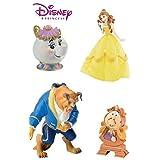 Bullyland Disney bella y la bestia figuras–Set de 4figuras Inc Mrs Potts y Cogsworth–gran para decoración de dulces
