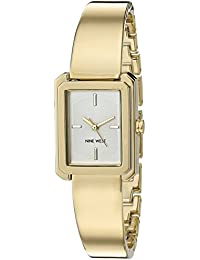 Nine West Women's NW/1914CHGB Gold -Tone Bangle Watch