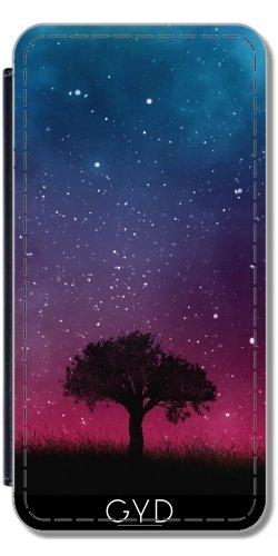 Leder Flip Case Tasche Hülle für Apple iPhone 6 Plus / 6S Plus - Baum Raum Galaxie Kosmos Himmel by Petra Lederoptik