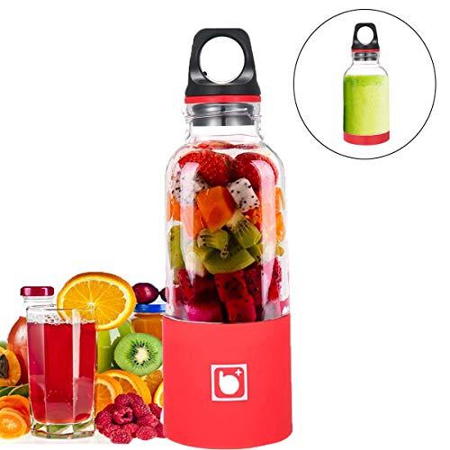 Volwco 500ML Juice Blender Portable,Mini Blender pour Smoothie Mixeur des Fruits Rechargeable avec USB pour Sport Et Voyage,sans BPA,Bouteille Type