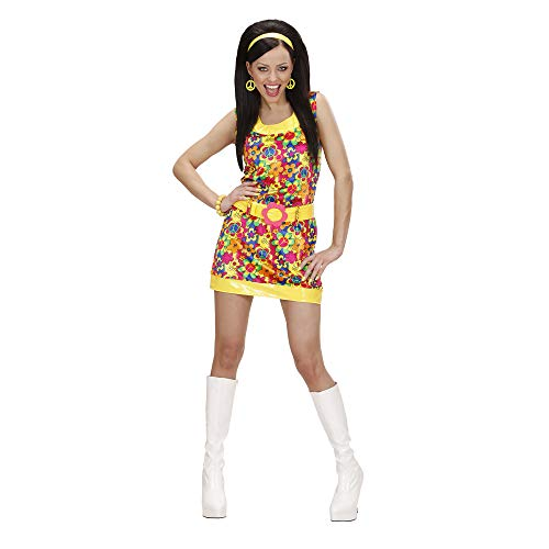 Widmann 73263 - Erwachsenenkostüm Peace & Love Girl, Gr. L (60er Peace Child Kostüm)