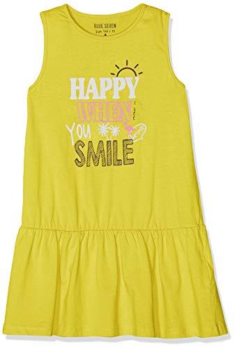 Blue Seven Mädchen Shirtkleid, Rundhals Kleid, Gelb 141, (Herstellergröße: 98) (Mädchen In Gelben Kleid)
