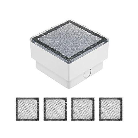 parlat LED Pflasterstein, IP67, 5 Stück, 10 x 10 cm, warmweiß LC-EL-055-WW-x5