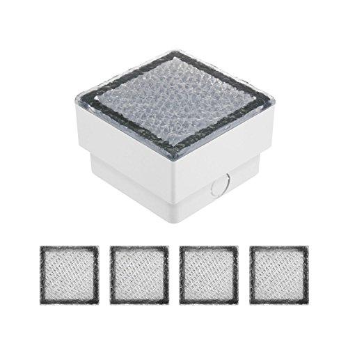 garten bodenleuchten parlat LED Pflasterstein, IP67, 5 Stück, 10 x 10 cm, warmweiß LC-EL-055-WW-x5