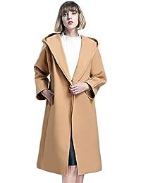 LvRao Cappotto Lungo da donna con Cappuccio e Cintura Manica lunga  Invernale Cappotti Trench Giacca Parka d01aaebc205