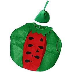 Sharplace Vestiti Abito Di Frutta Anguria Divertente Cosplay Costume con Cappelli per Adulti