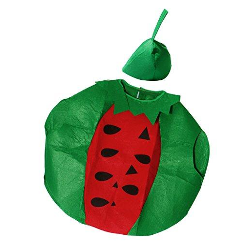 Baoblaze Obst Kostüm Cosplay Kostüm Karneval Kostüm, Einheitgröße für Kinder - - Wassermelone Kostüm Kind