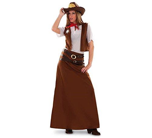 Imagen de disfraz de vaquera para mujer talla m l