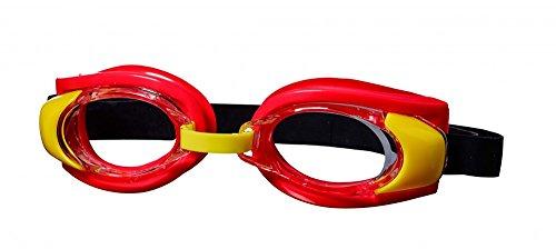 Best Sporting Schwimmbrille Pecker, rot/gelb/schwarz