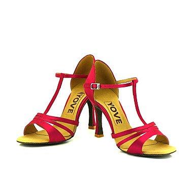 Amarelo Profissionais Sapatos Calmas Senhoras De Dança xnIq18X