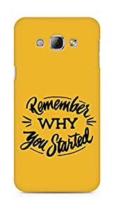 AMEZ remember why you started Back Cover For Samsung Galaxy A8