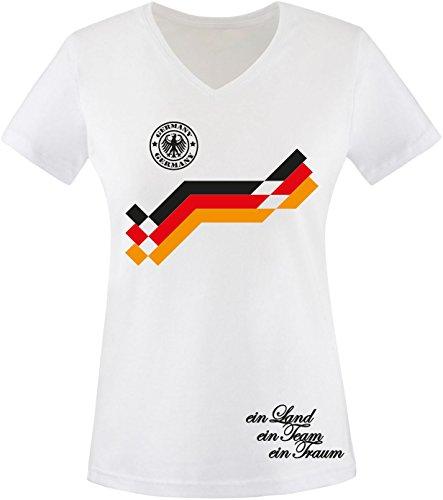 Luckja EM 2016 Deutschland Trikot Wunschname und Wunschnummer Damen T-Shirt (Götze Damen-t-shirt)