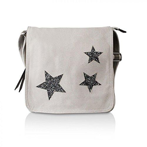 Glamexx24 Elegante borsa a tracolla in stile lacca in diversi colori GrigioChiaro