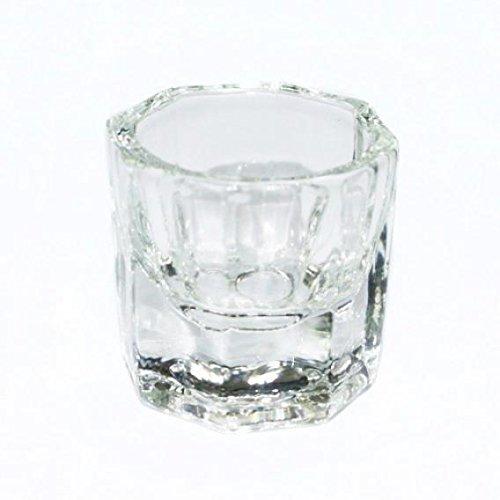 1PC Forma octogonal Copa Dappen Plato Contenedor Cristal Cuenco para A
