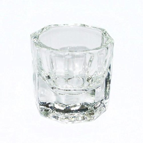 1PC Forma octogonal Copa Dappen Plato Contenedor Cristal