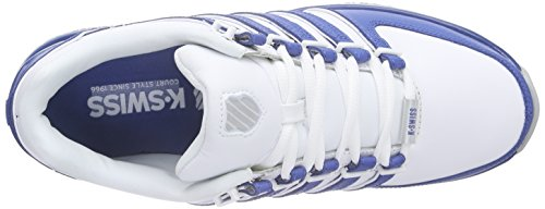 K-Swiss RINZLER SP, Sneakers Basses homme Blanc - Weiß (White/Brunner Blue/high rise 184)