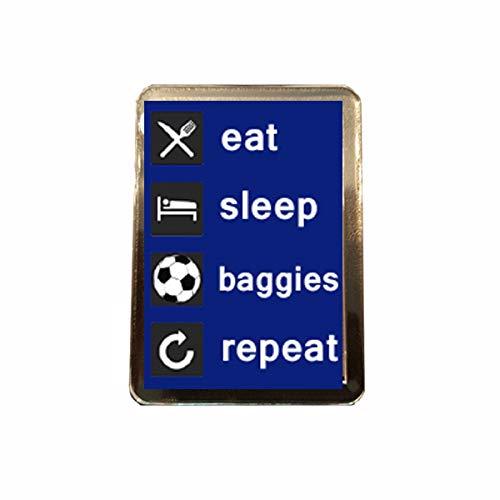B Gifts West Bromwich Albion F.C - Eat, Sleep, Repeat Fridge Magnet