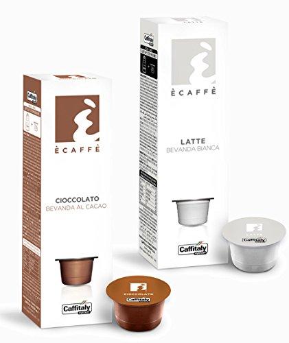 20 Ècaffè Caffitaly Kapseln Kombipaket: 10 Kakaokapseln CIOCCOLATO + 10 Milchkapseln LATTE