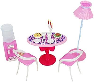 Juegos de Casa de Muñecas Conjunto de Muebles Barbie Tamaño Comedor