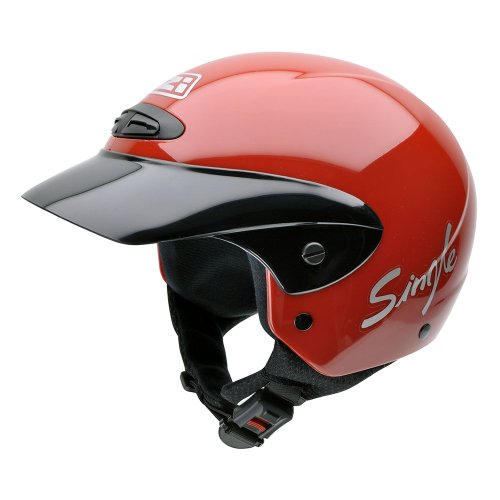 NZI 050139G058 Single II Jr Red Casco de Moto, Rojo, Talla 52-53 (L)