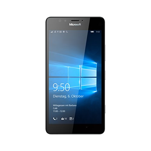 Microsoft Lumia 950 Smartphone, Display 5,2 Pollici, Memoria 32 GB, Fotocamera 20 MP, Windows 10, Nero [Germania]