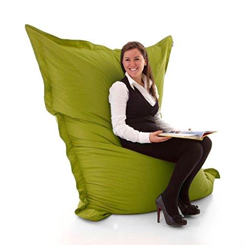 Pouf poltrona cuscino gigante jive in tessuto antistrappo imbottito made in italy colore verde acido