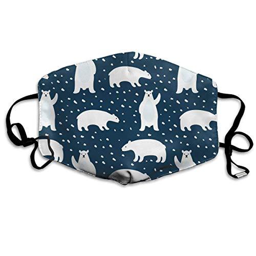 Cute Polar Bear Kostüm - WBinHua Masken, Masken für Erwachsene, Mask Face, Mouth Mask, Breathable Mask Anti Dust, Unisex Cute Polar Bears Printed Cotton Mouth-Masks Face Mask Polyester Anti-dust Masks