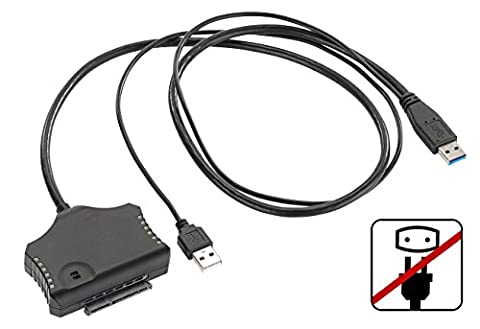 Xystec SATA-Connector: Netzteilloser USB-3.0-Festplatten-Adapter für 2,5