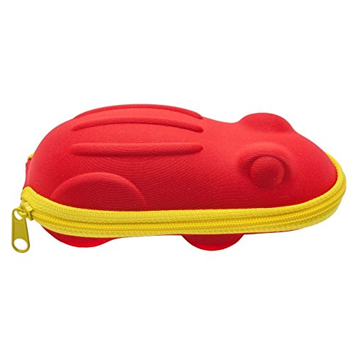 Happy Frog Glasses Case - Red