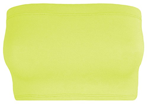 The Celebrity Fashion Damen Top Neon Yellow - Celeb Celebrity Inspired Party Dinne