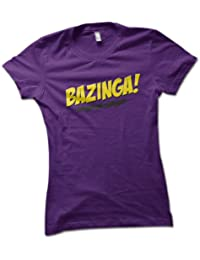 Bazinga Ladies T-Shirt Choice of 8 Colours in Sizes S to XL