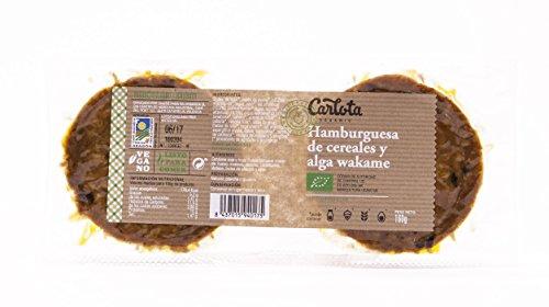 3 x HAMBURGUESAS Vegetarianas DE CEREALES Y ALGA WAKAME