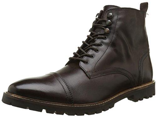 Base LondonSiege - Stivali Rangers alla caviglia Uomo , Marrone (Marron (Washed Brown)), 45