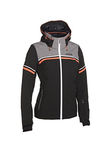 Phenix Damen Skijacke Orca Jacket, Black/Grey, 34