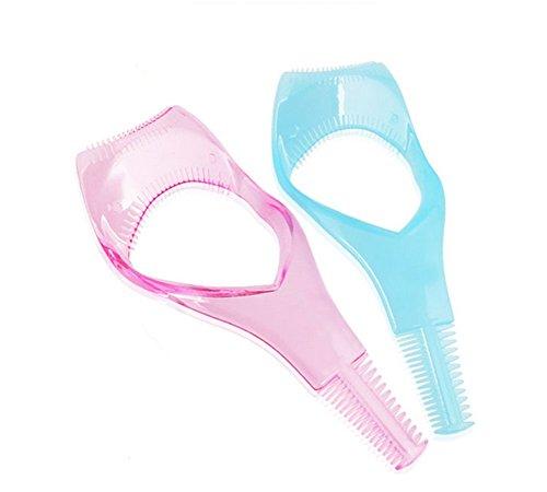 2 PCS Plastic Makeup Eyelash Tool Upper Lower Eye Lash Mascara Guide d'applicateur de protection avec peigne de cils pour femmes (Ship at Random)