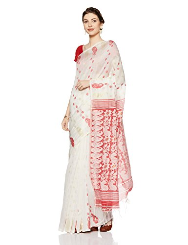 Gocoop Silk Saree Without Blouse Piece (GCDGTSCSAA0191_Red_One Size)