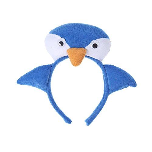 Amosfun Pinguin Headdband Cute Cartoon stereoskopische Tier Headdband Halloween Kostüme Kinder Kindergarten Party Kostüm Geschenk Zum Geburtstag Kindertag Cosplay Show