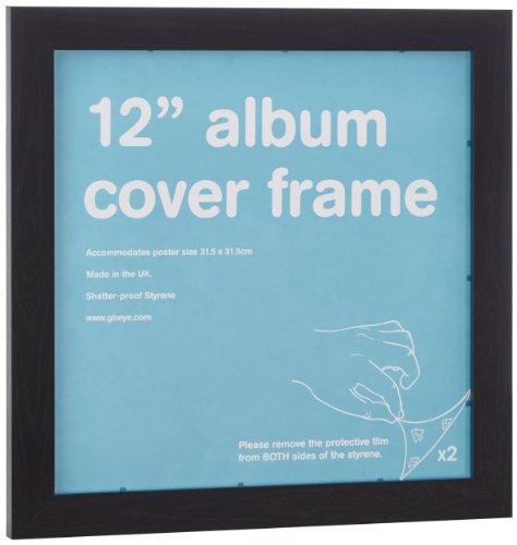 Empire 332165 Cornice per copertine di LP, in MDF, 31,5 x 31,5 cm, colore: Nero
