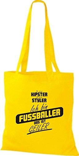 Borsa Di Stoffa Shirtstown Sei Hipster Sei Stiler Sono Un Calciatore Che È Giallo Corneo