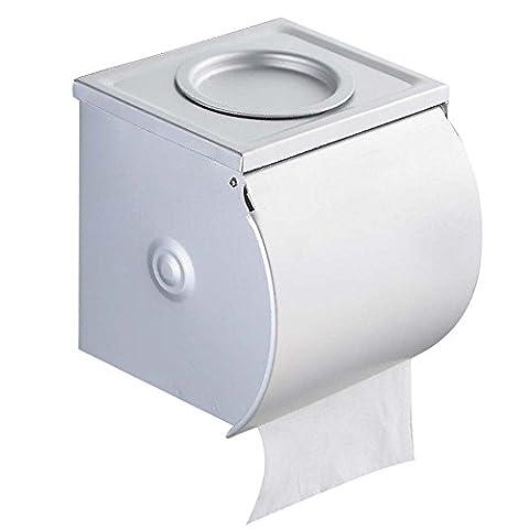Edelstahl Toilettenpapierhalter Wandhalterung WC Badezimmer Wasserdicht Papier Rolle Aufhänger Halterung Tissue Halter Aufbewahrungsbox mit Deckel