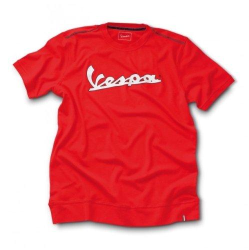 Preisvergleich Produktbild Original Vespa Herren T-Shirt mit aufgedruckten Vespa Logo, Größen:XXL;Farben:rot