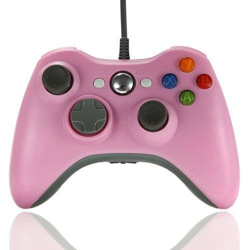 DuaFire Wired USB Game Pad Controller Joypad for Microsoft XBOX 360 PC Windows Pink  available at amazon for Rs.2639