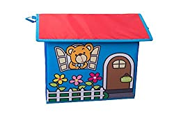 Kids Toy Storage House With Yellow Bear And Letters